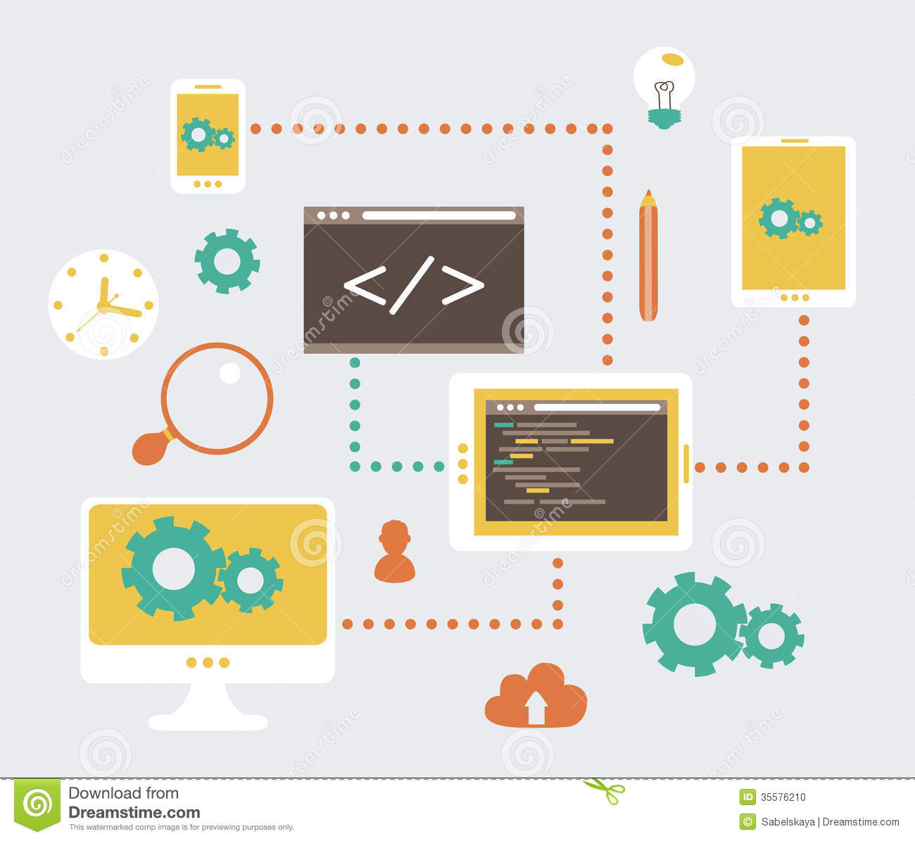 Stunning Vector Web Development 1300 x 1195 · 101 kB · jpeg