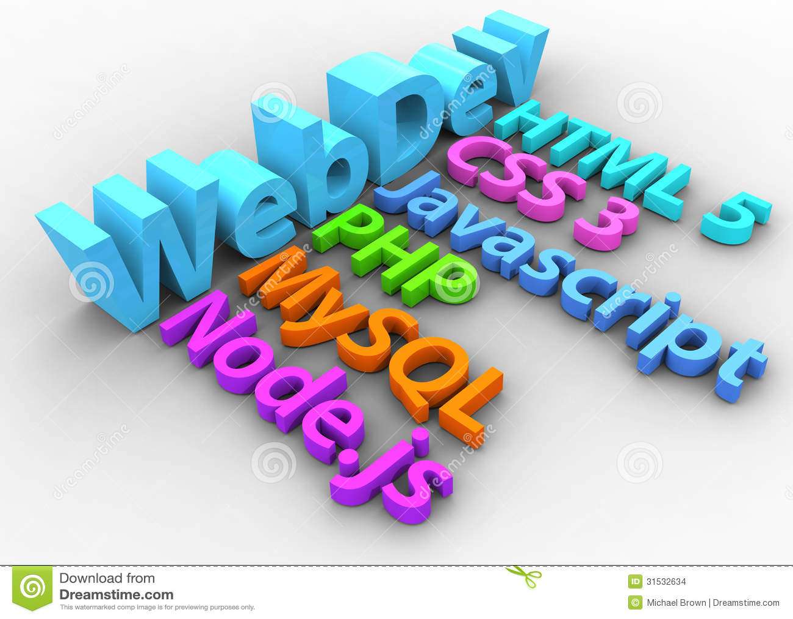Web Development Tools For HTML Site Stock Illustration