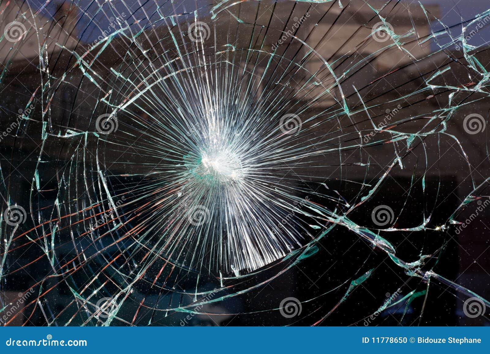 Web di vetro rotto