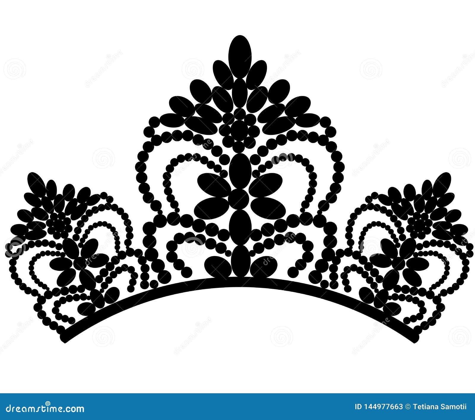 Web diadem Tiara femenina de lujo elegante hermosa E Vector