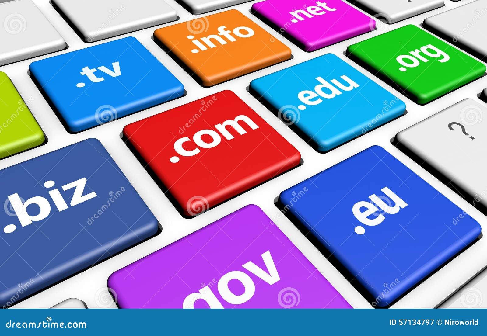 Web Domain Names Computer Key Stock Illustration ...