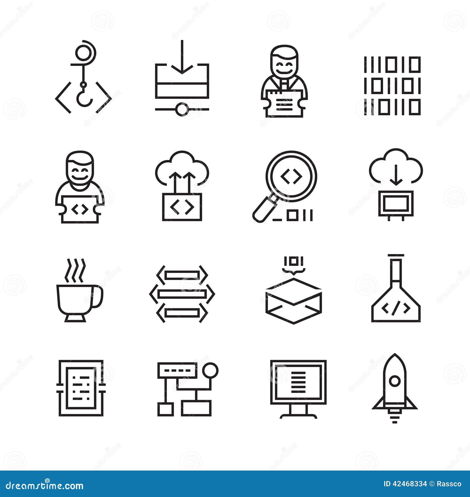 Web-Entwicklung und Seo Icons