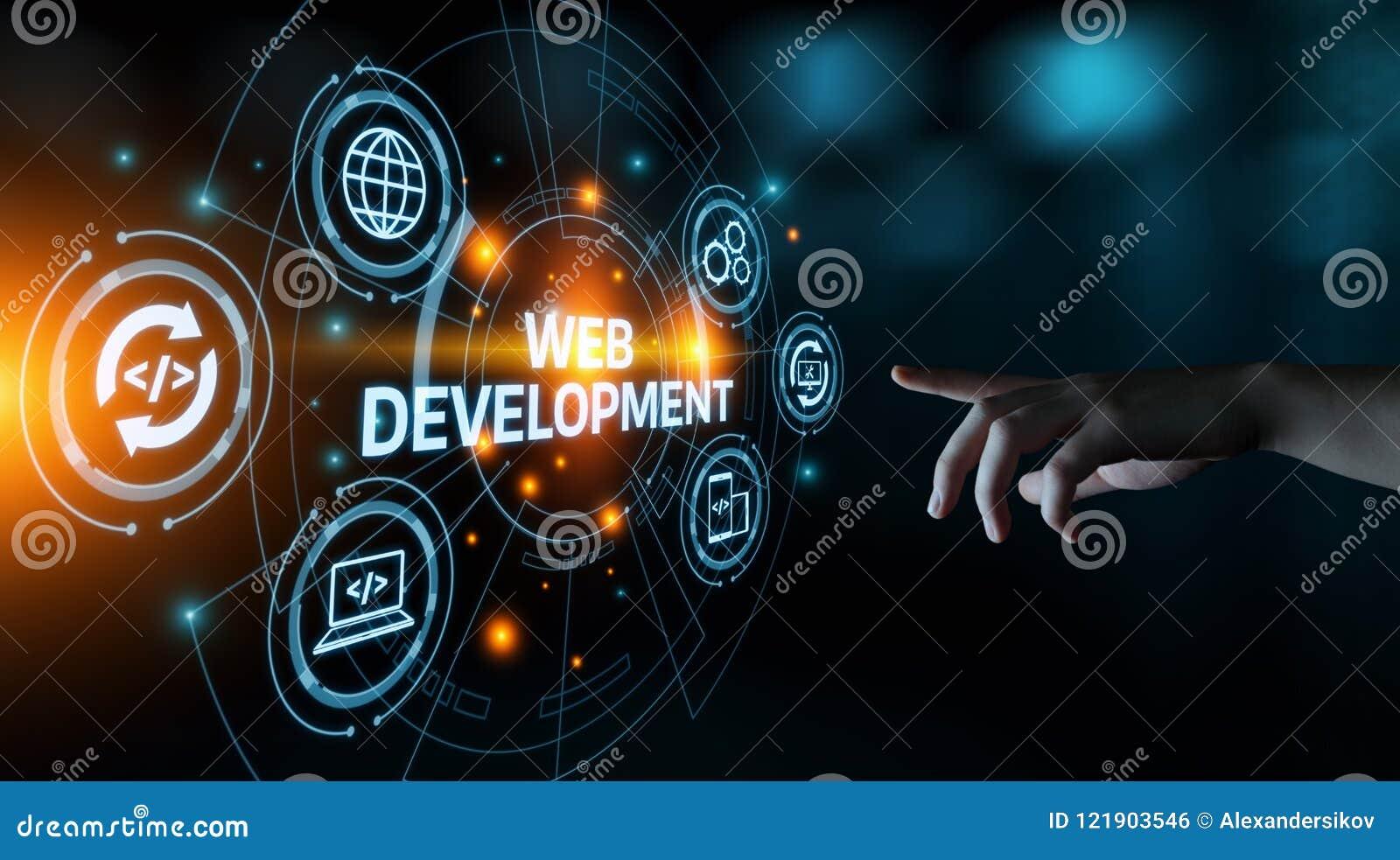 Web-Entwicklungs-Kodierungs-Programmierungsinternet-Technologie-Geschäftskonzept