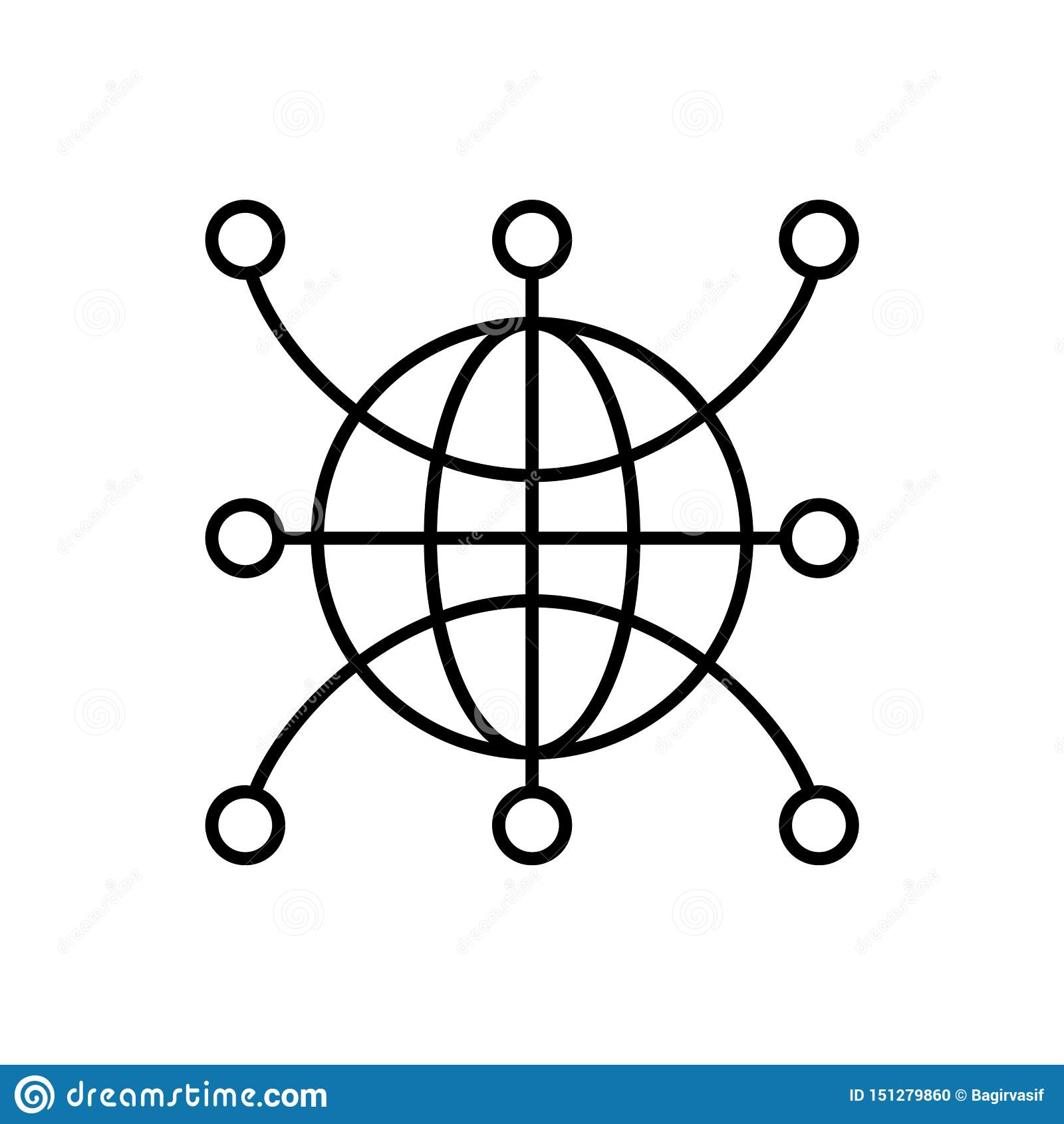Web, global, network, world icon - Vector. Artificial intelligence