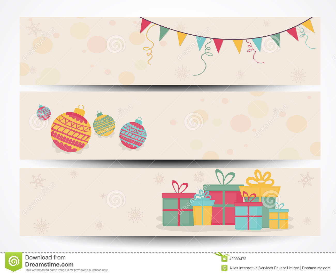 web header or banner for christmas and new year celebration
