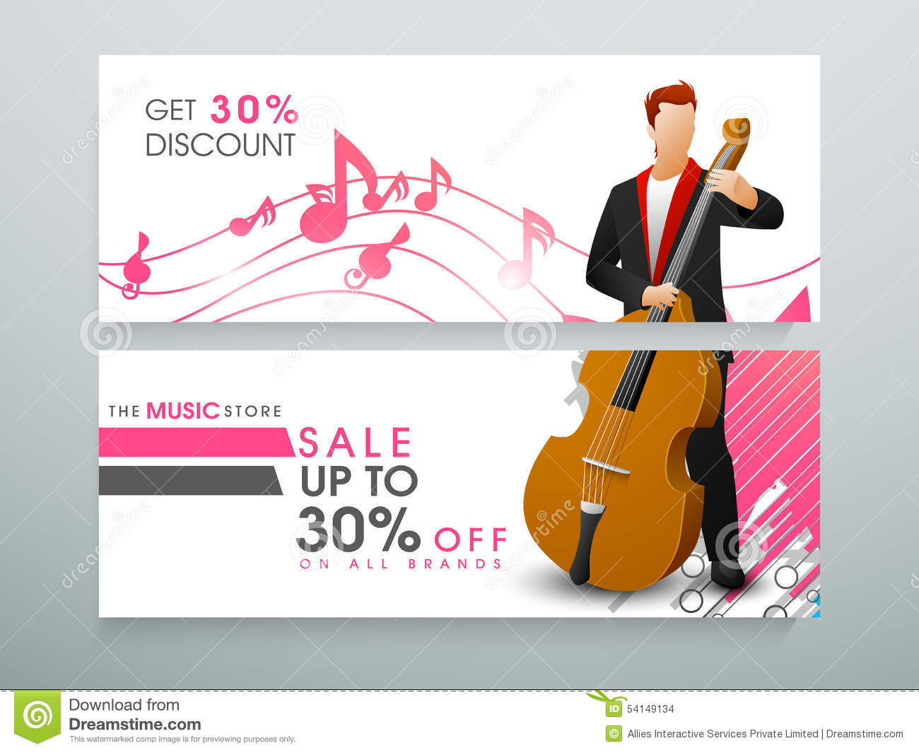 web header or banner for music store stock illustration illustration of notes holding 54149134. Black Bedroom Furniture Sets. Home Design Ideas