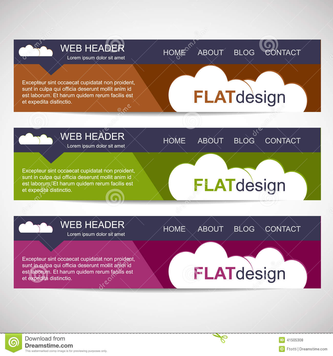 website header template free download themes 2018