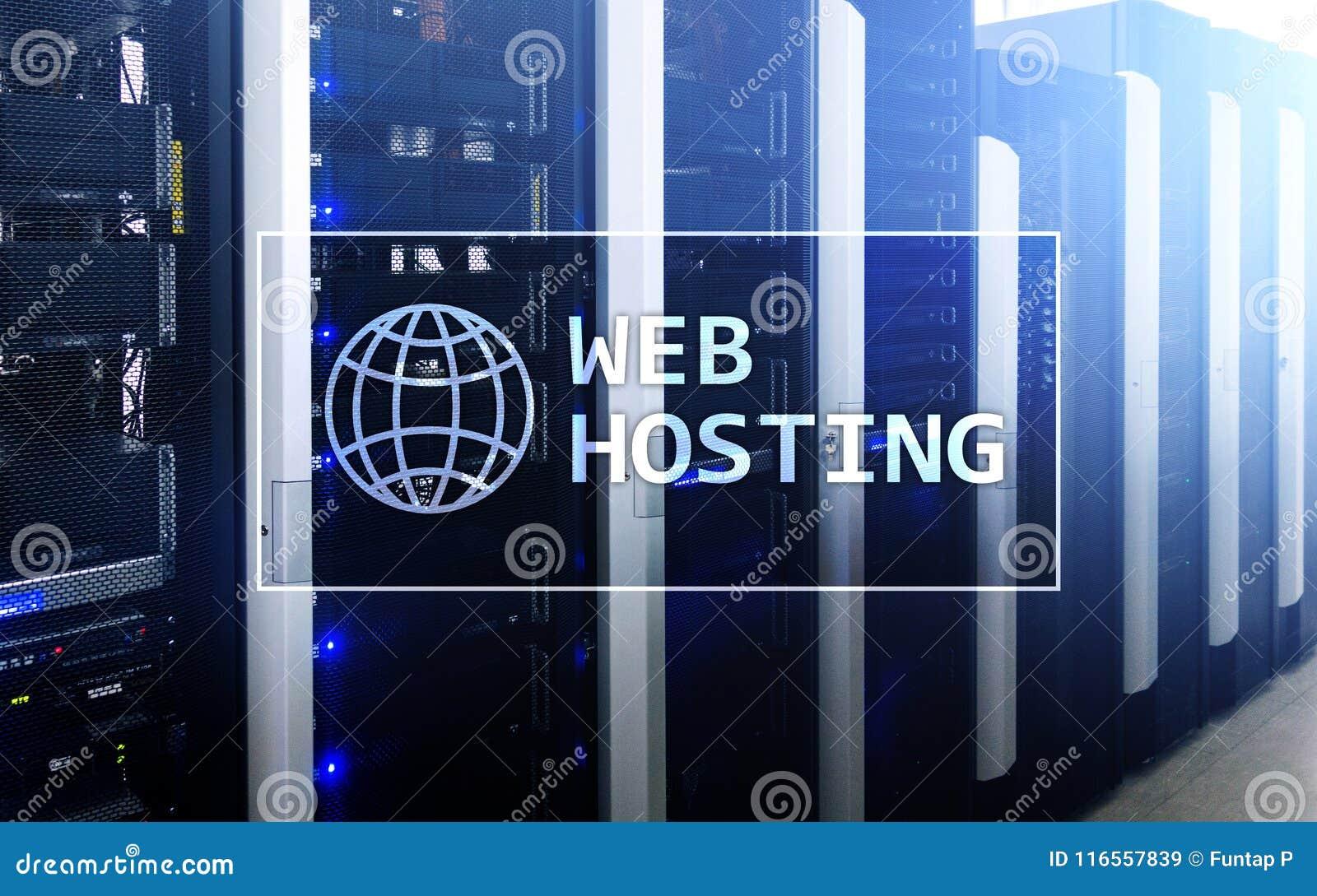 Web het Ontvangen, verlenend bergruimte en toegang voor websites