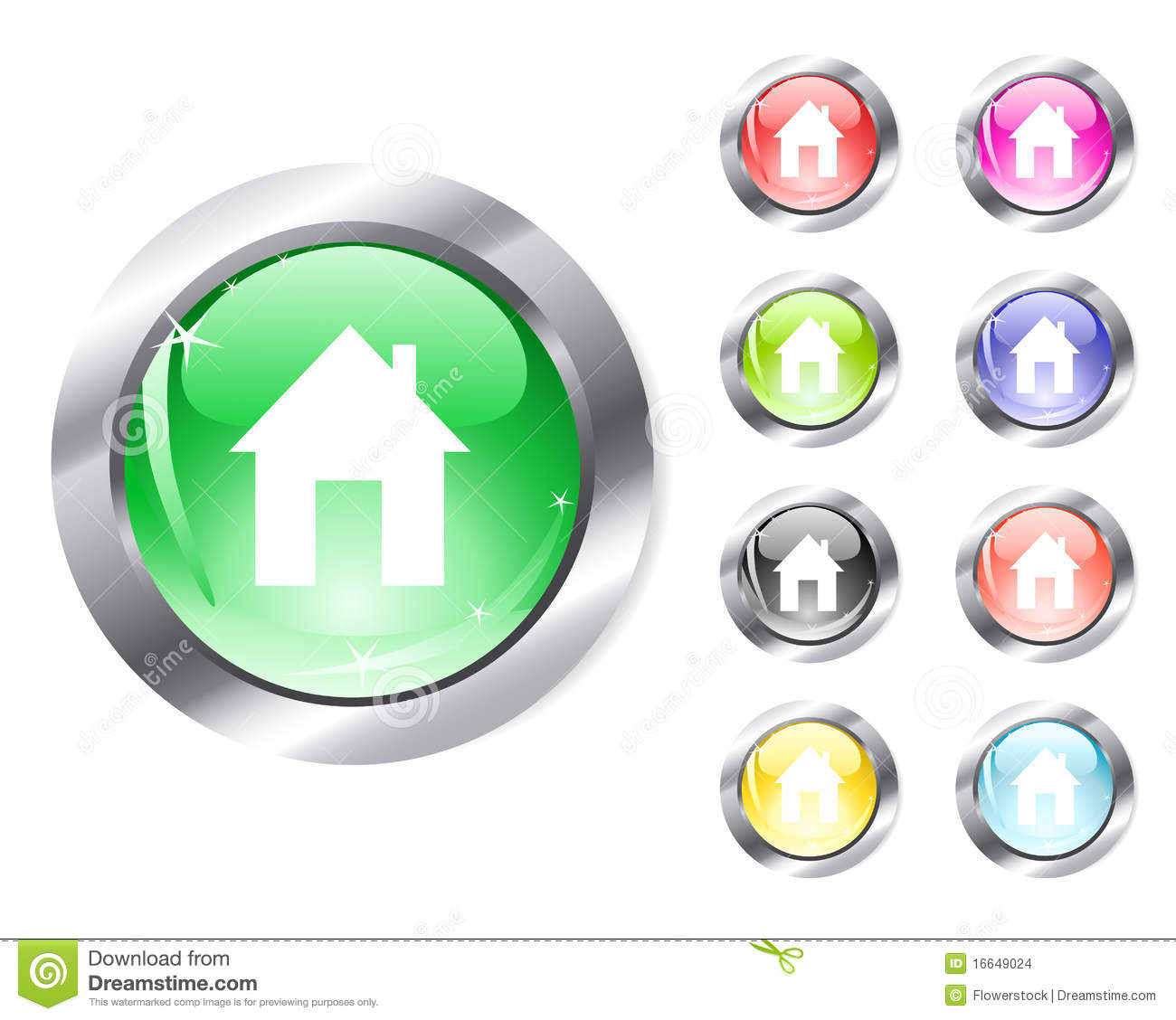 Web Home Icon Stock Images - Image: 16649024