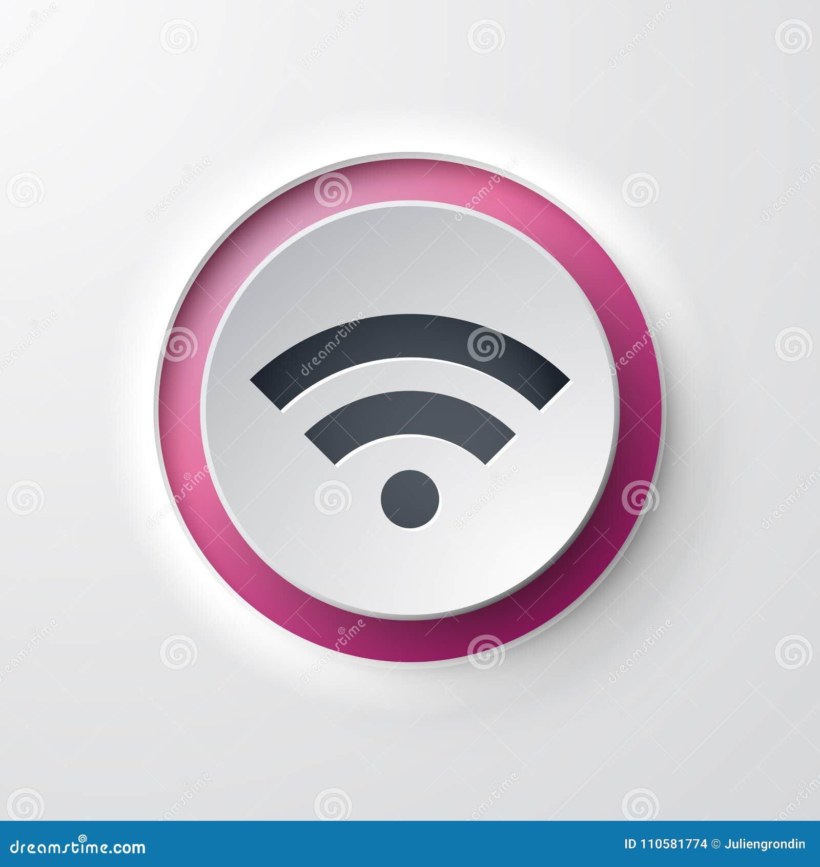 Web icon push-button wifi stock illustration  Illustration of clean