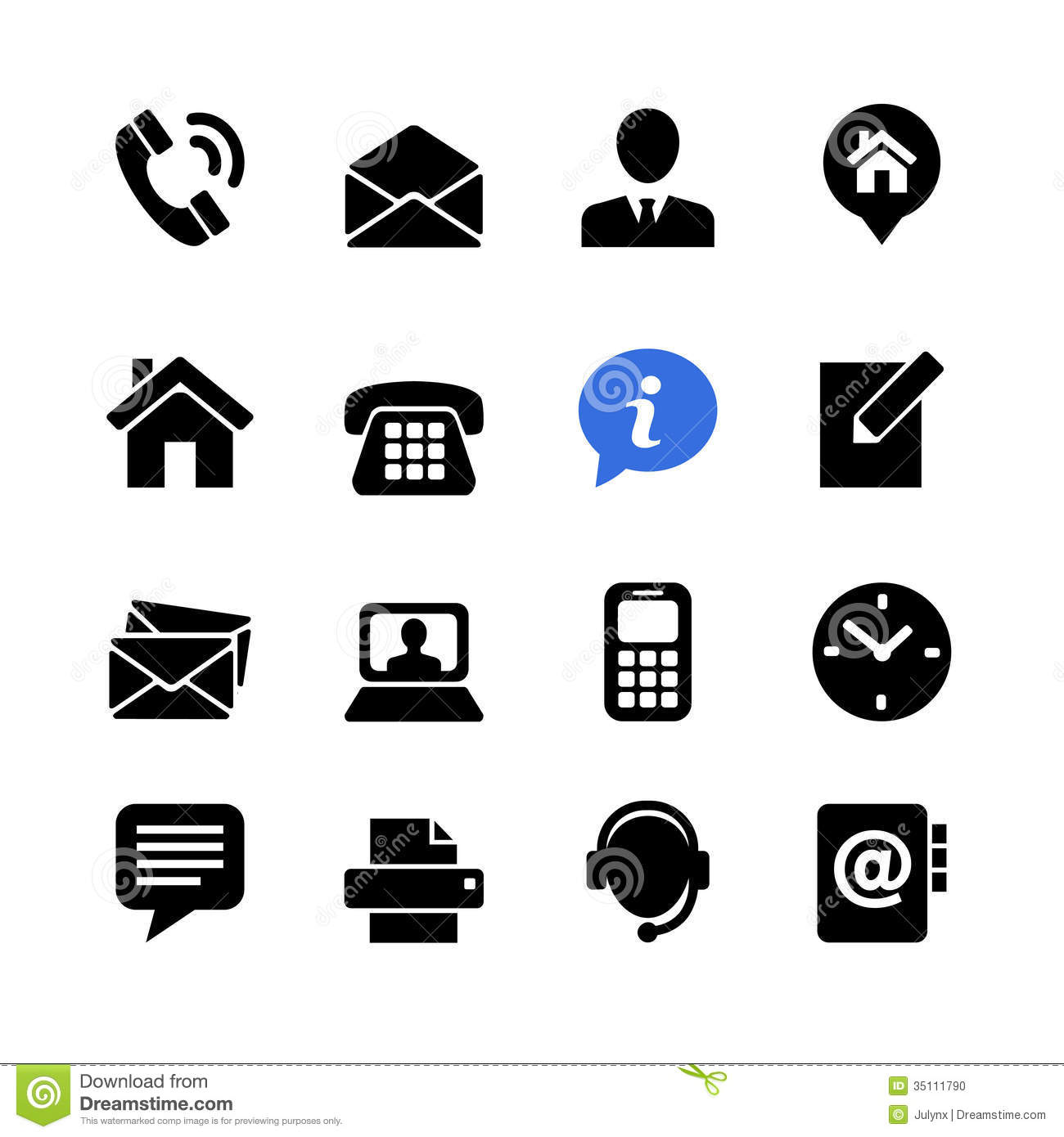 Business card vector icons home phone address telephone fax web icon set contact us stock photo magicingreecefo Gallery