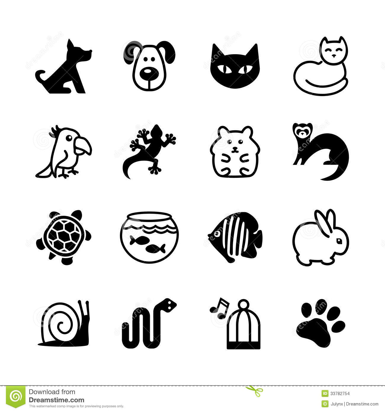 Download Web Icon Set. Pet Shop, Types Of Pets. Stock Vector - Illustration of print, icon: 33782754