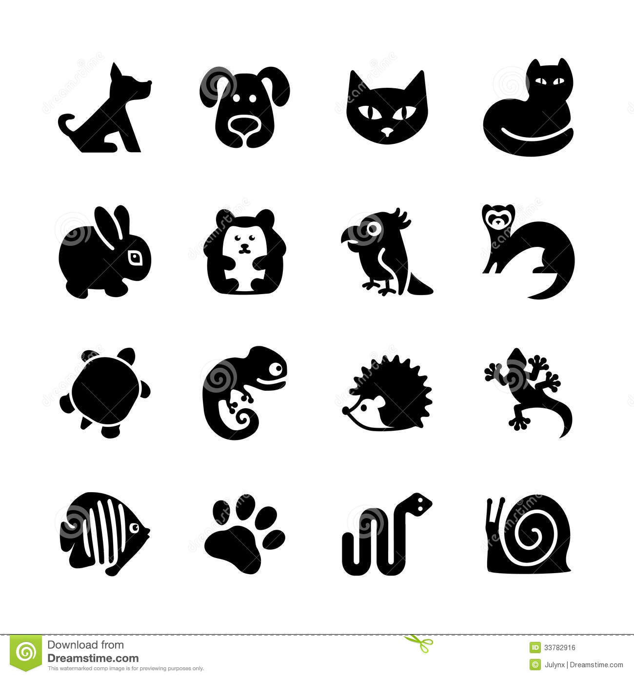 Download Web Icon Set. Pet Shop, Types Of Pets. Stock Vector - Illustration of pets, gecko: 33782916