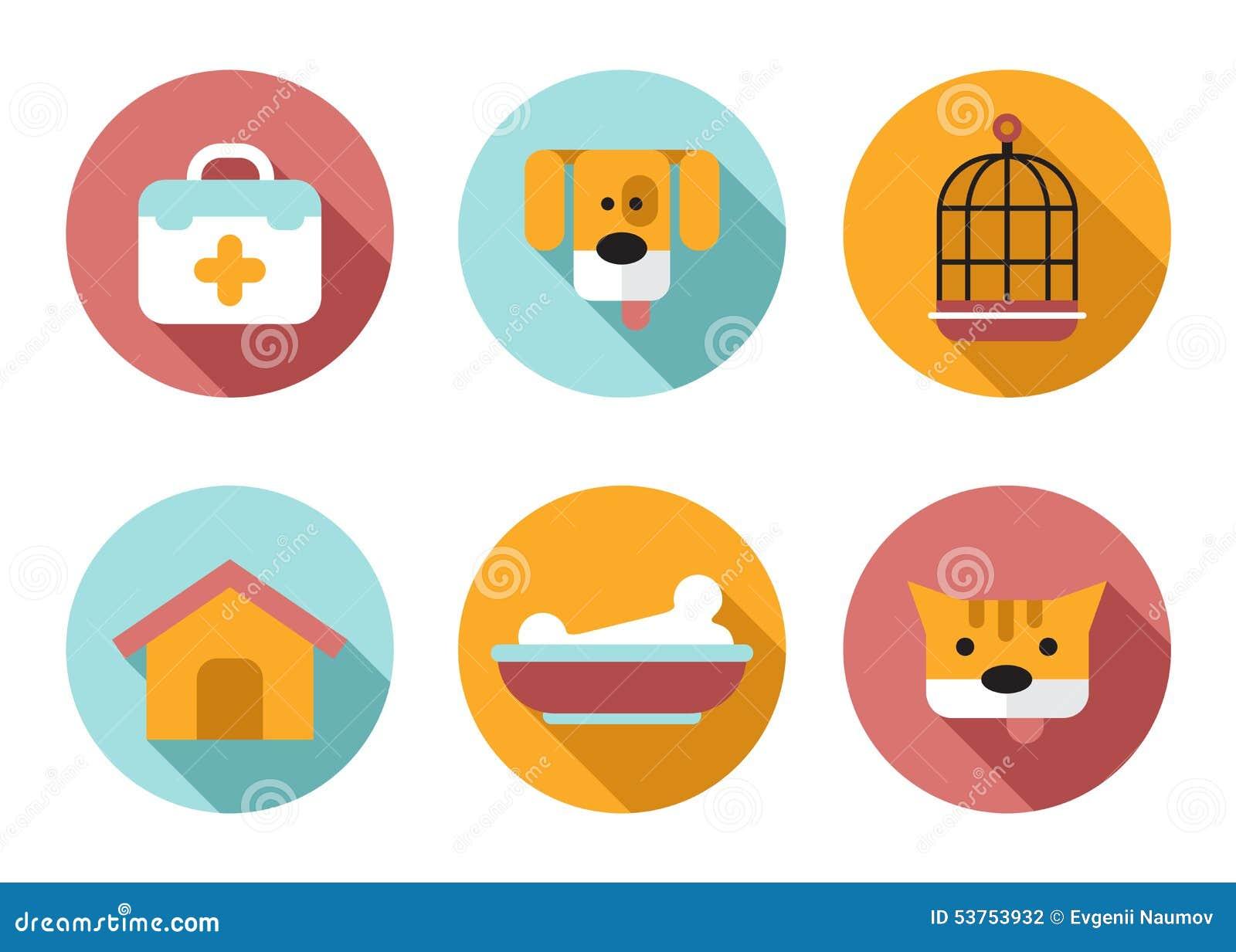 web icon set pet vet pet shop stock vector   image 53753932