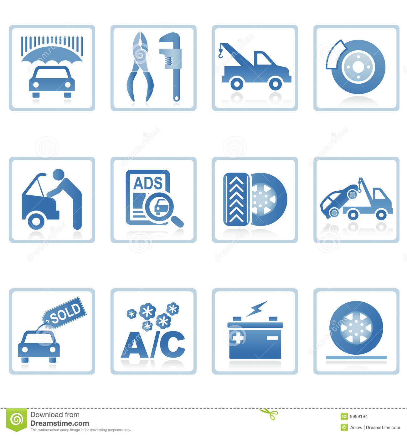 Web Icons : Auto Service Icon Stock Images - Image: 9999194