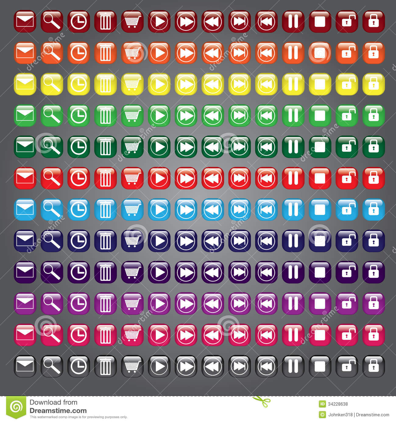 web icons buttons collection royalty free stock photos