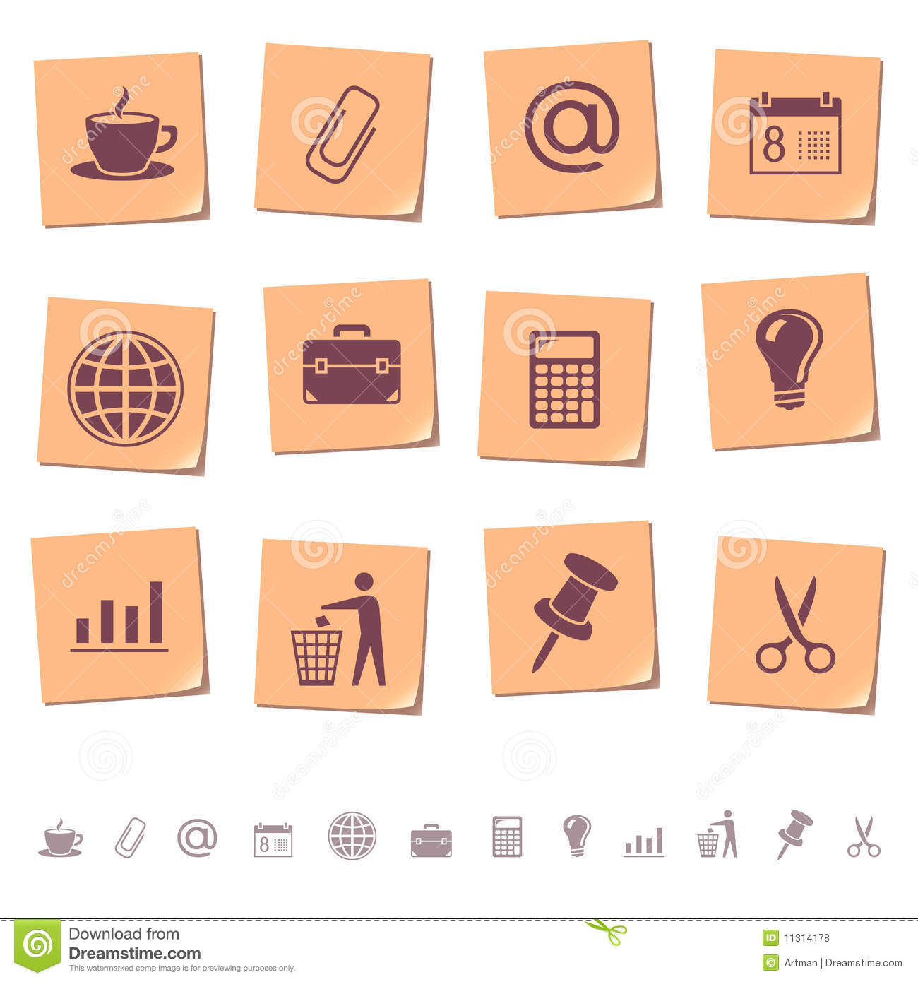 Web icons on memo notes 2