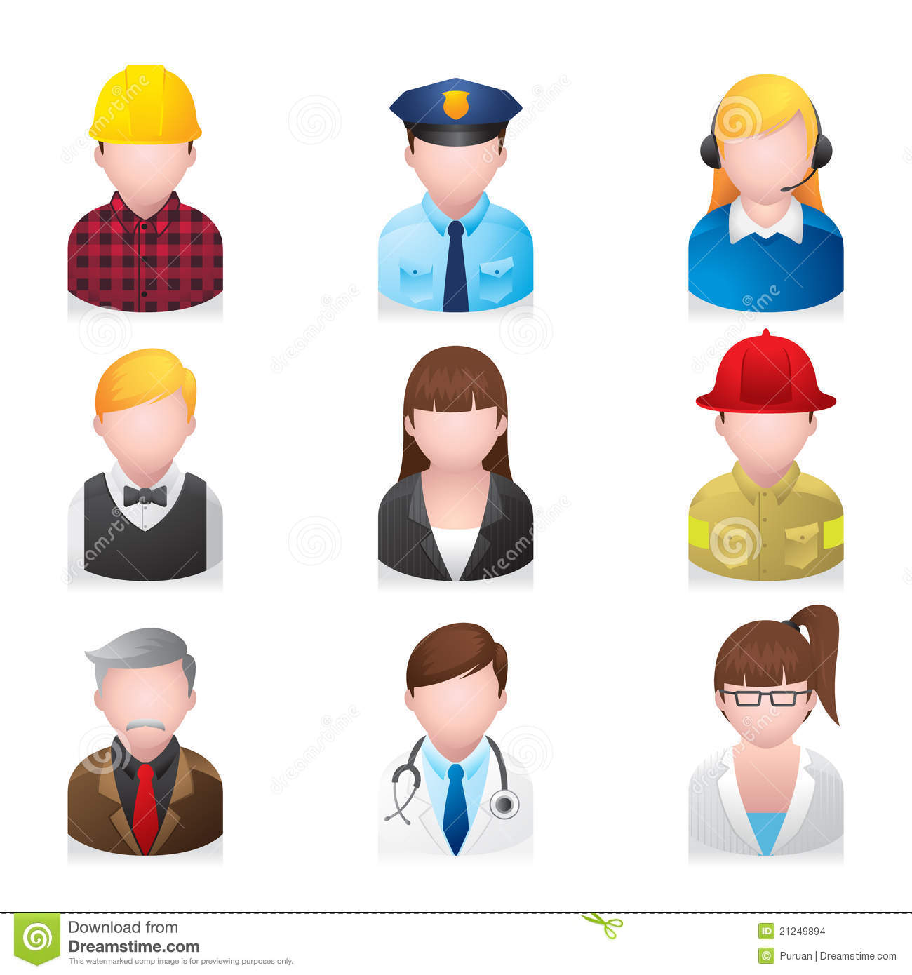 Web Icons - Professional People 2 Stock Vector ...
