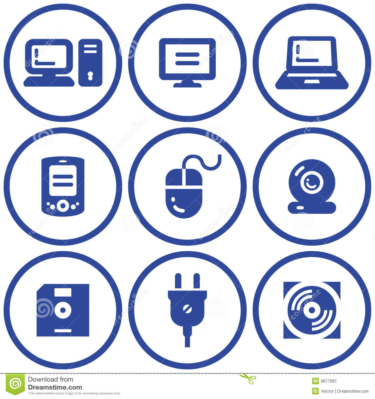 Web icons set hardware vector stock image image 9677681 Vector image software