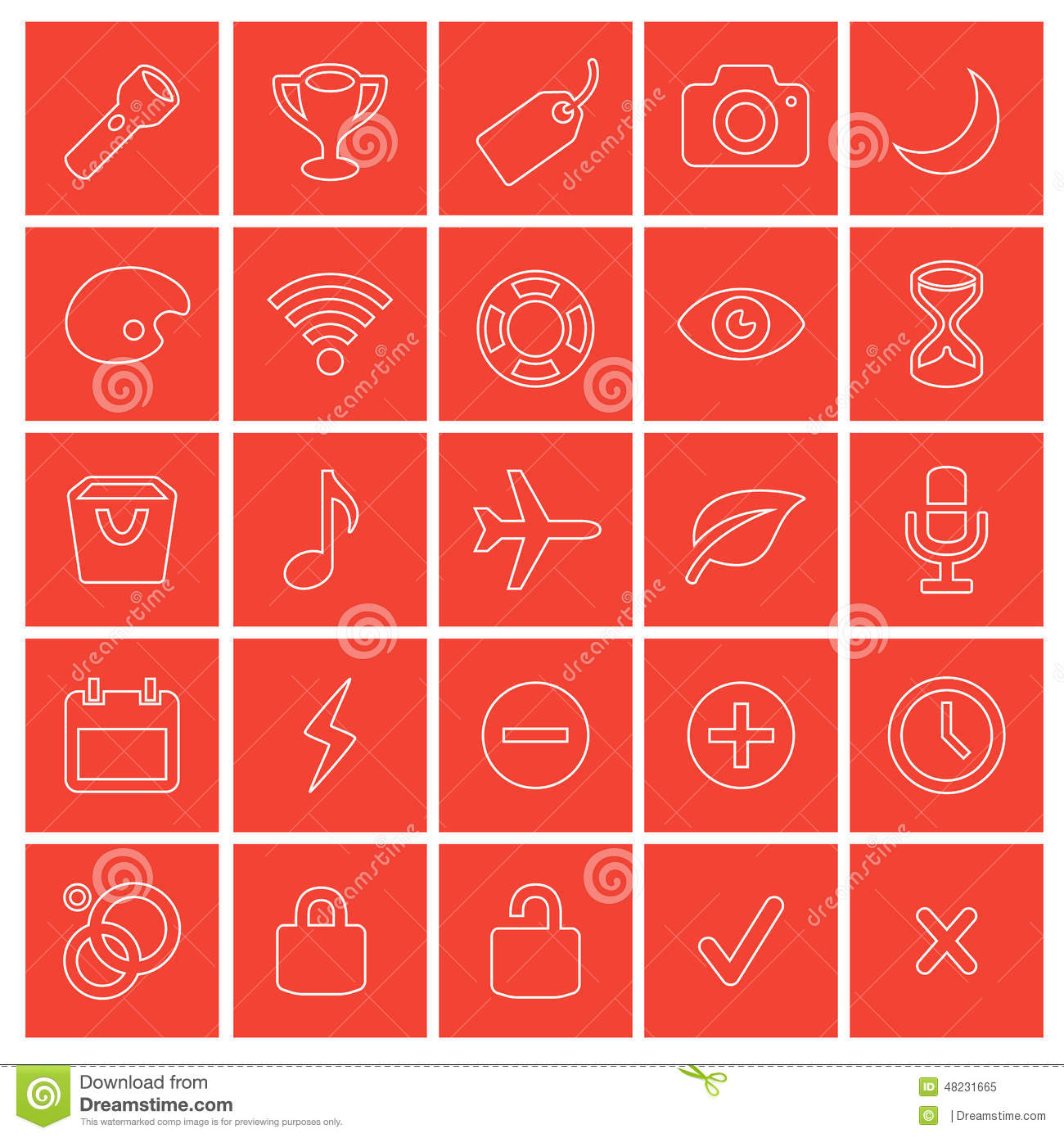 650f47befc 25 ready red colored web icons. Easily change colors to meet your needs.