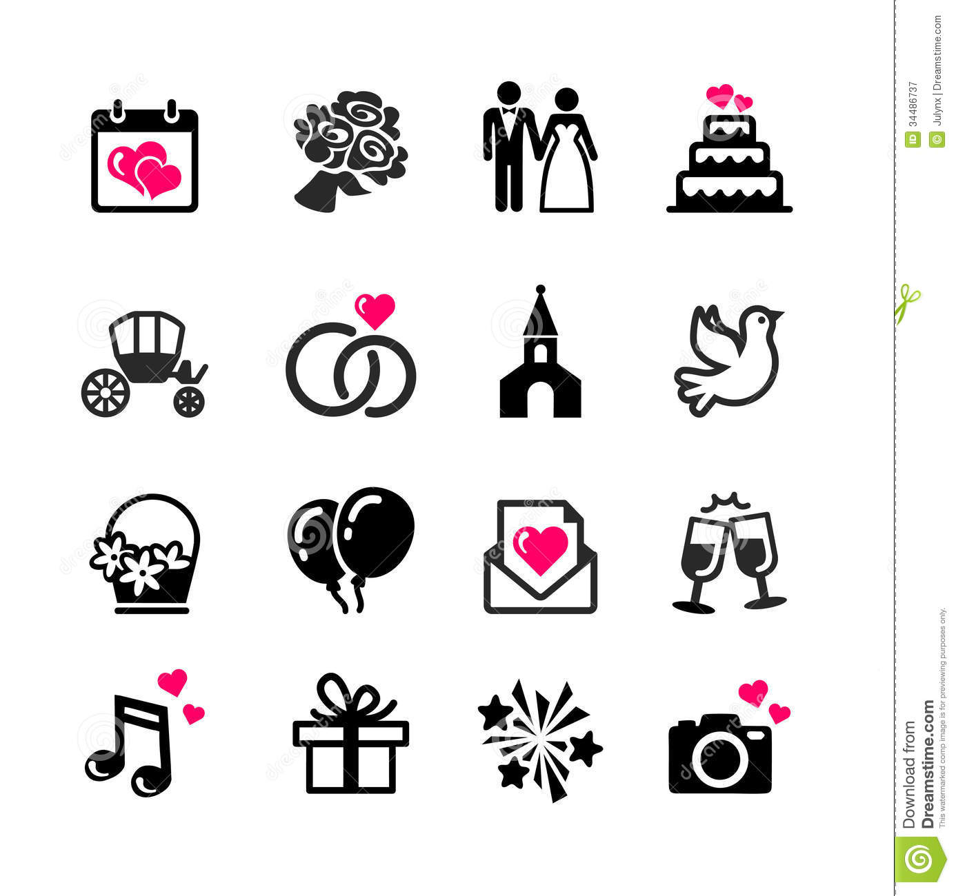 Free Black And White Bride And Groom Clipart