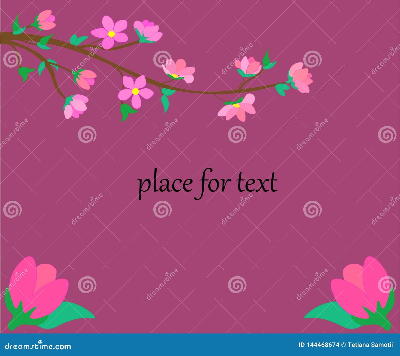 Web Illustration des Blumenrechteckrahmens mit Platz für Text Fr?hlingspapier-Schnittrahmen mit Blumen Papierschnitt und Handwerk