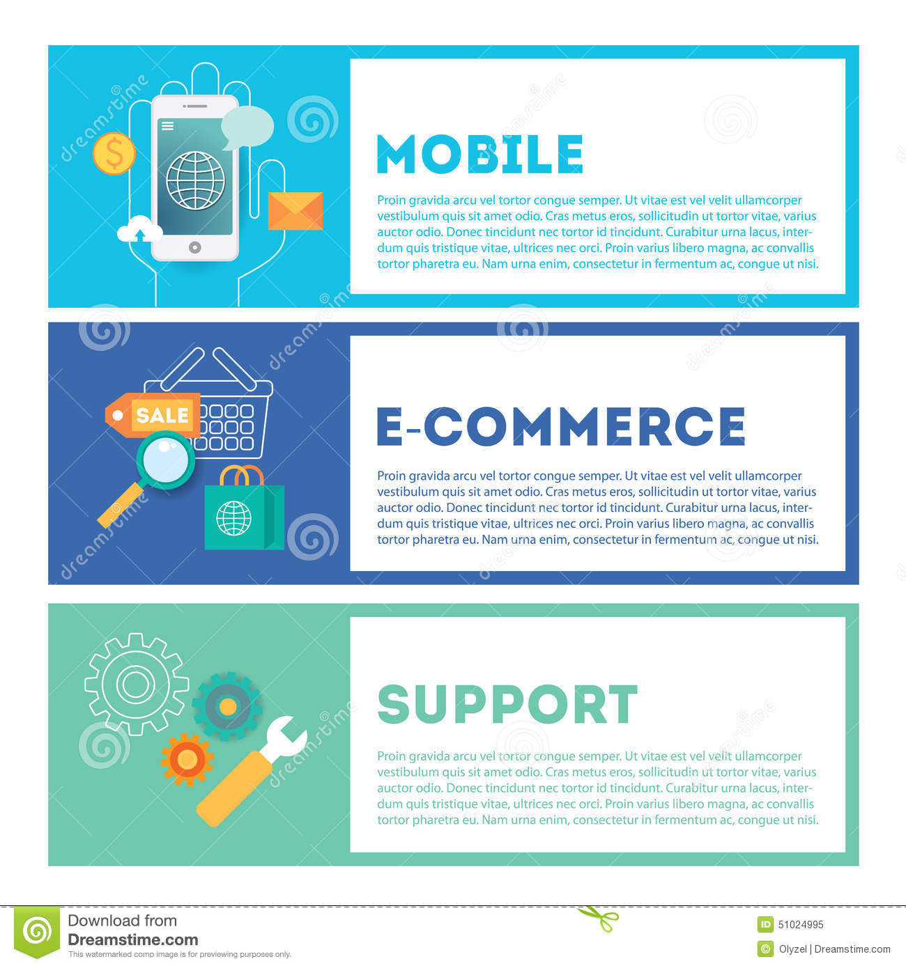 Web internet development illustration set mobile e for E commerce mobili