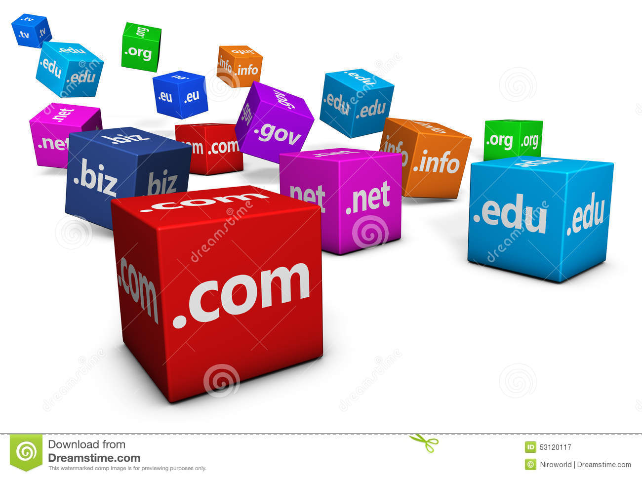 Web Internet Hosting Domain Names Stock Illustration ...