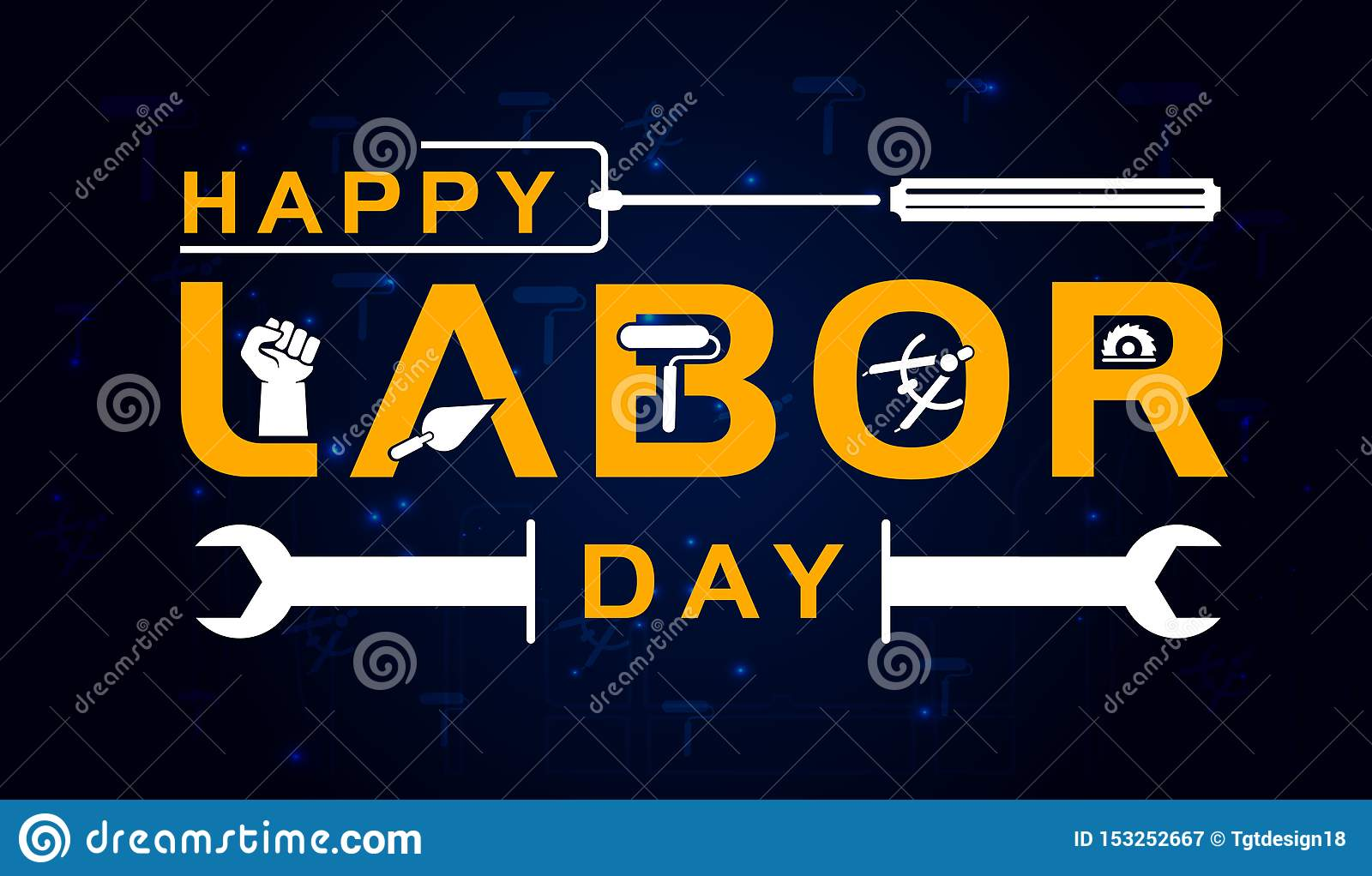 Labor Day lettering vector illustration