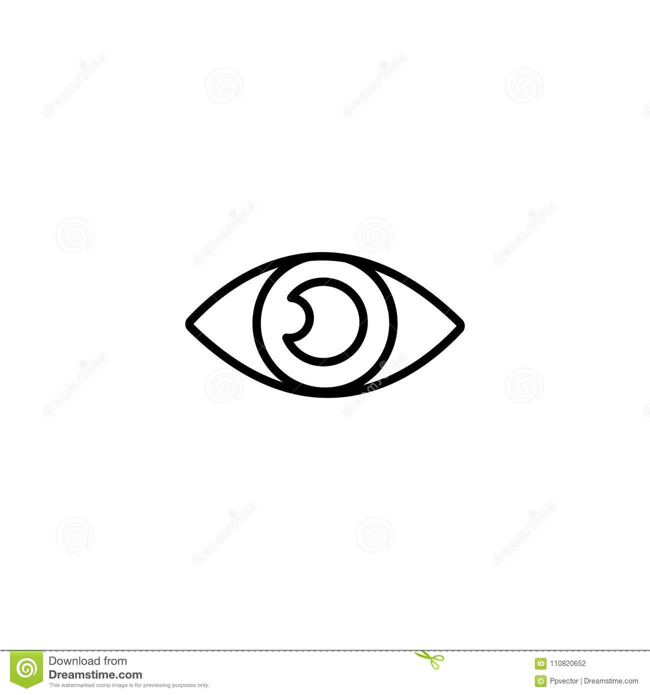 Line Icon Eye Symbol Sign Stock Vector Illustration Of Concept