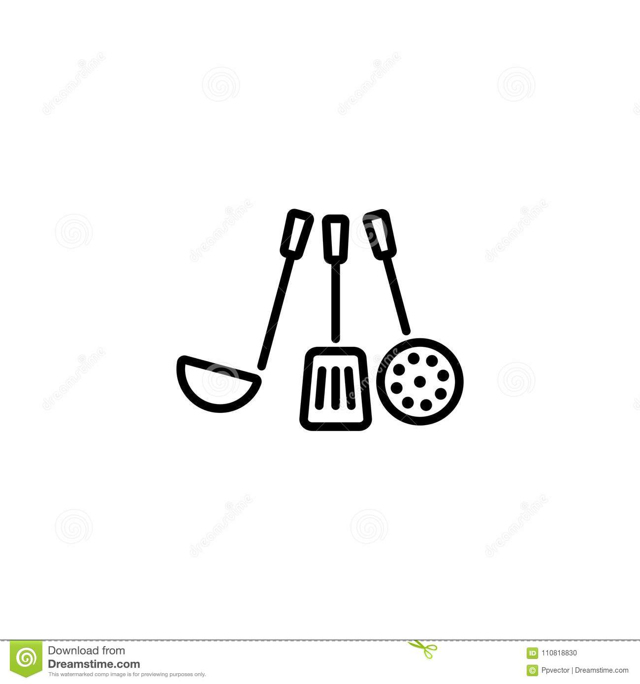 Ladle Clipart Black And White
