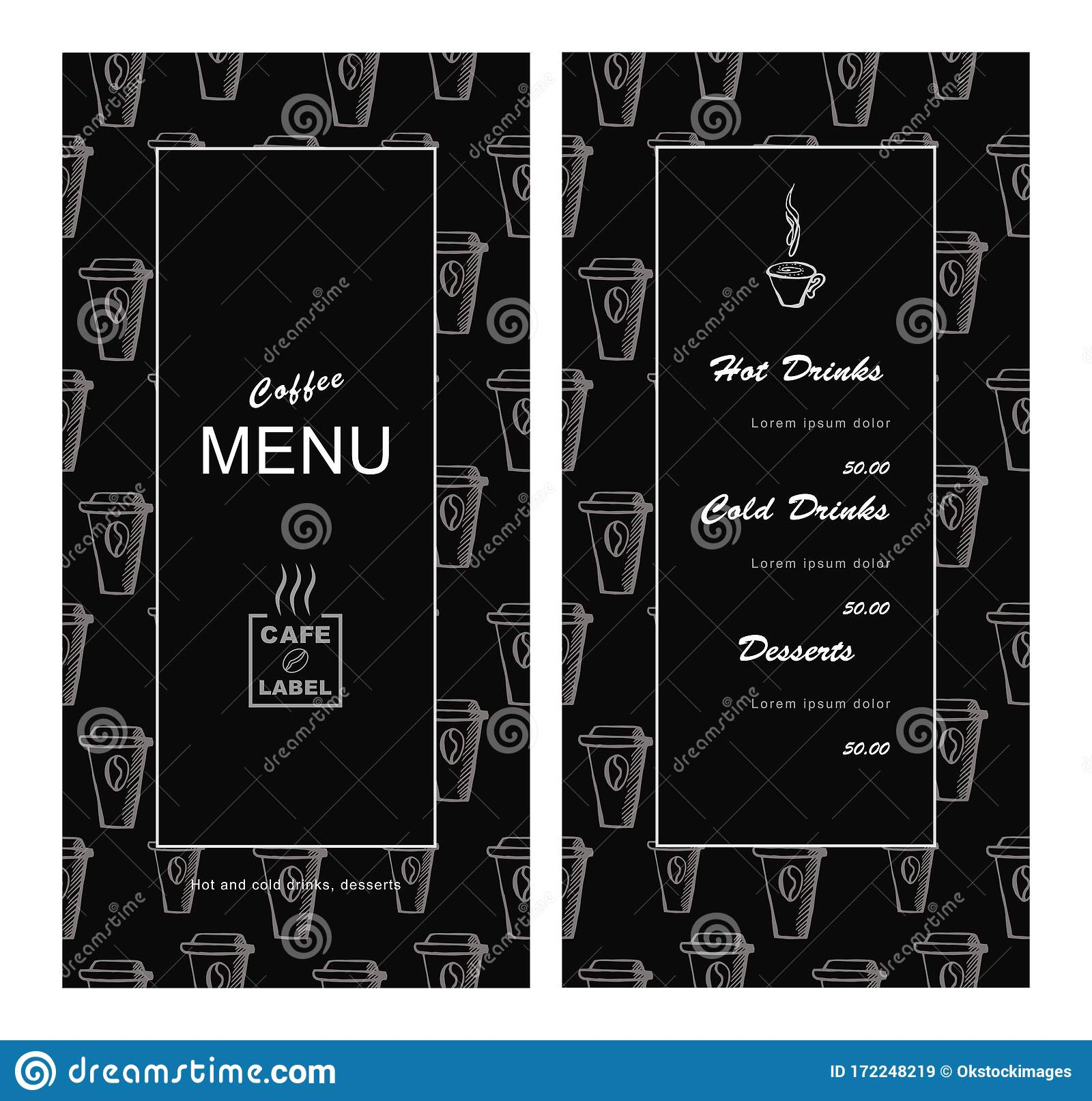 Menu Template Design For Cafe Coffee House Bar Bistro Vector Stock Illustration Illustration Of Chef Bistro 172248219