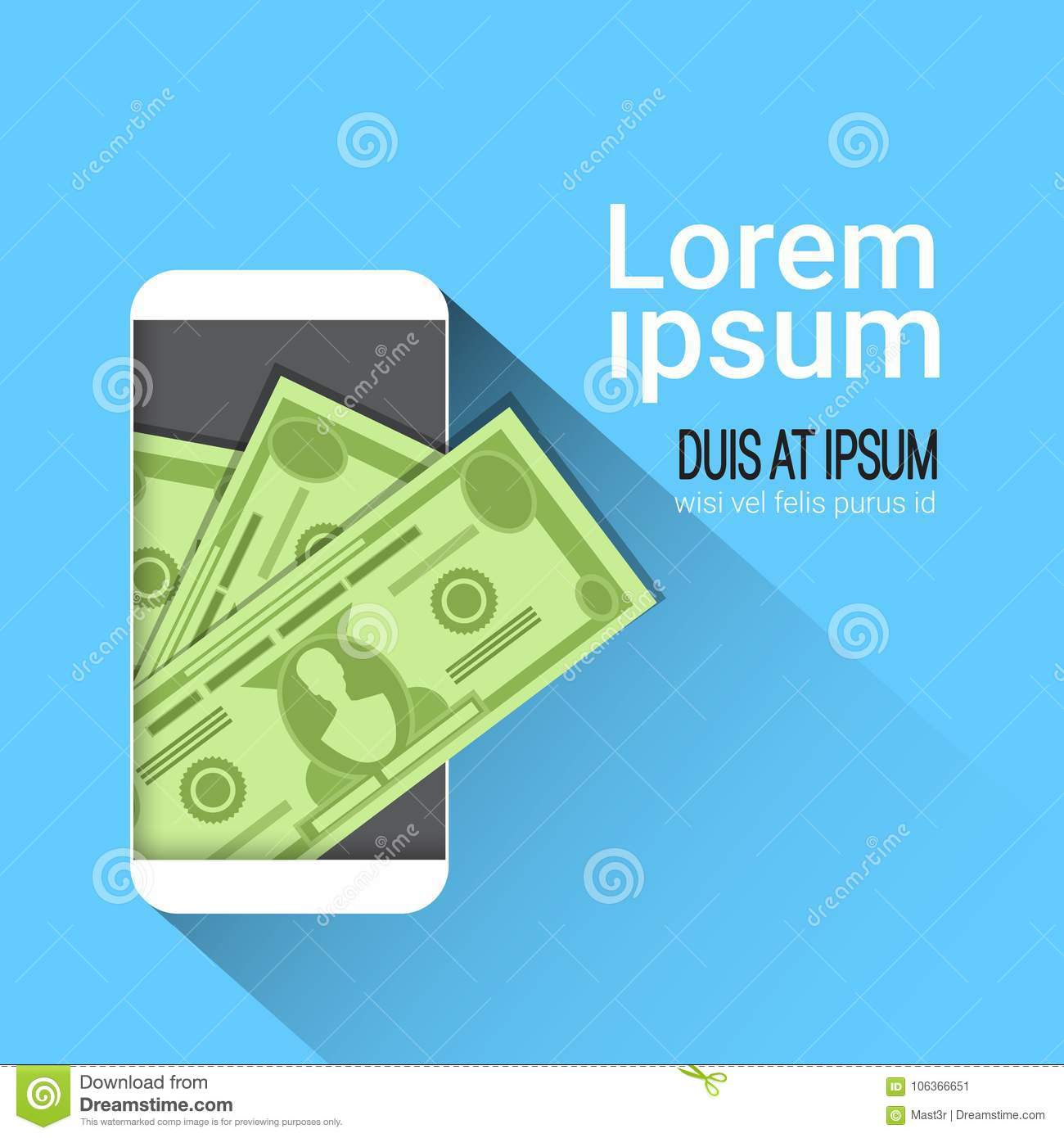Web Mobile Wallet App Money On Cell Smart Phone Screen Stock