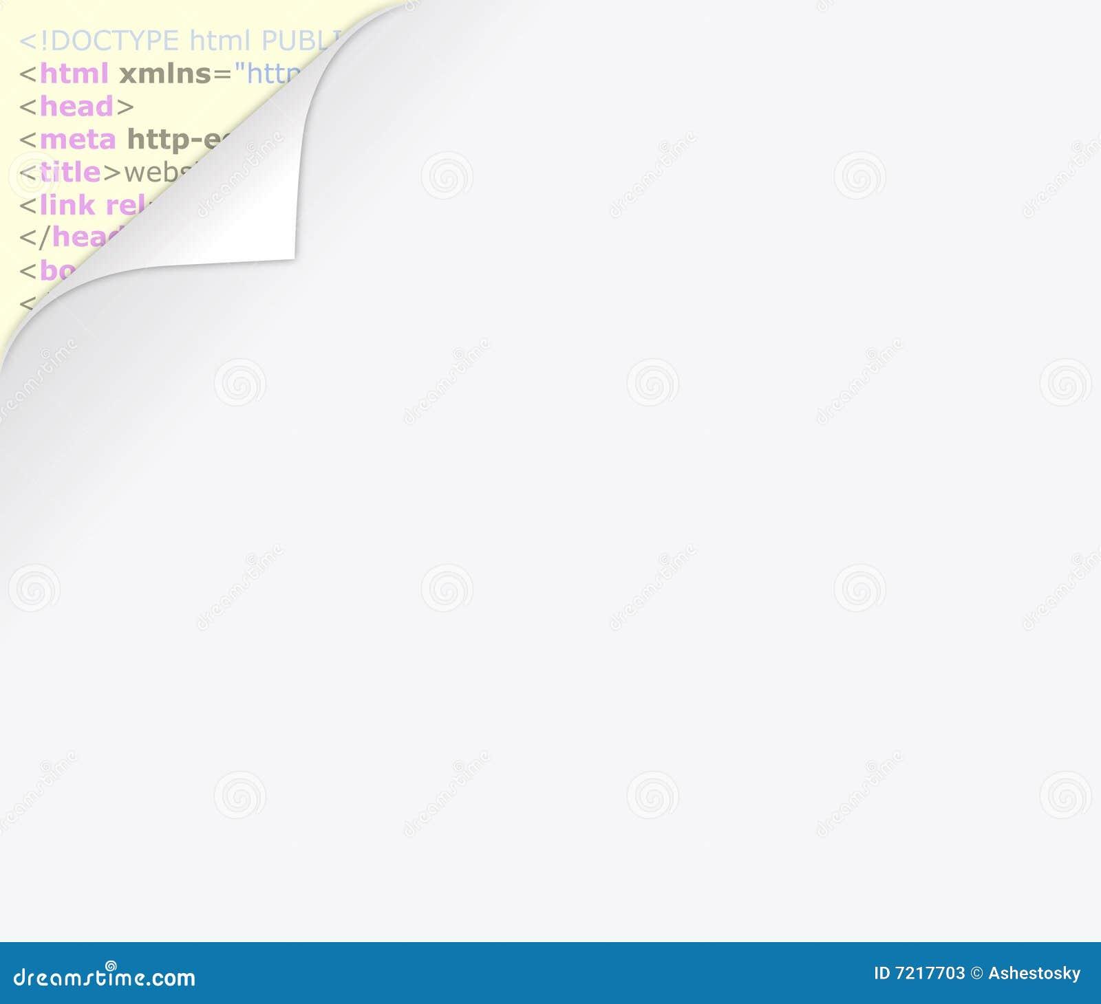 Web Page Del Html Detras Del Espacio En Blanco Ilustracion Del - Espacio-en-blanco-html