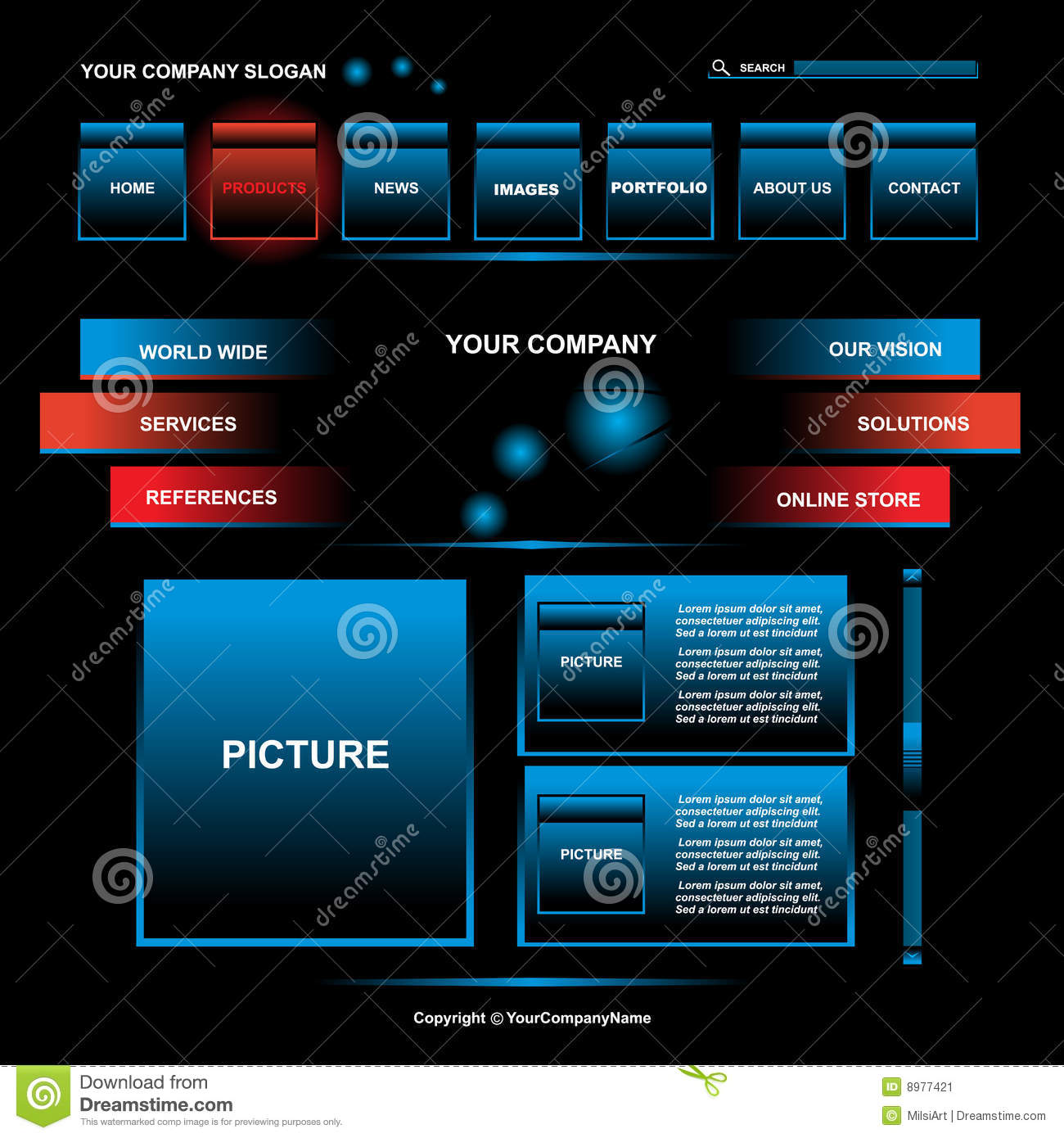 Web page design stock image image 8977421 for Web page architecture
