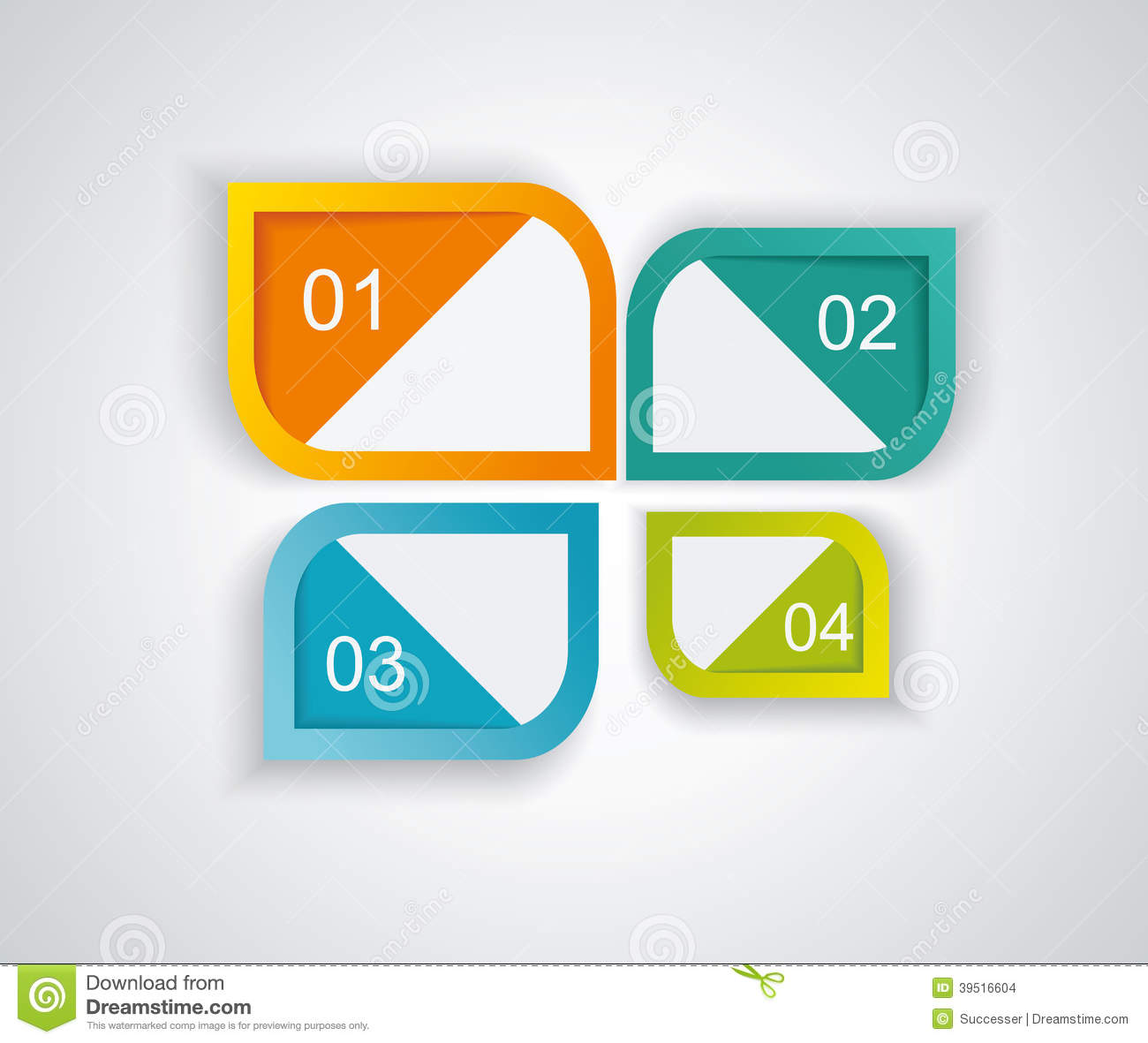 Web page design stock vector image of clean background for Blueprint number