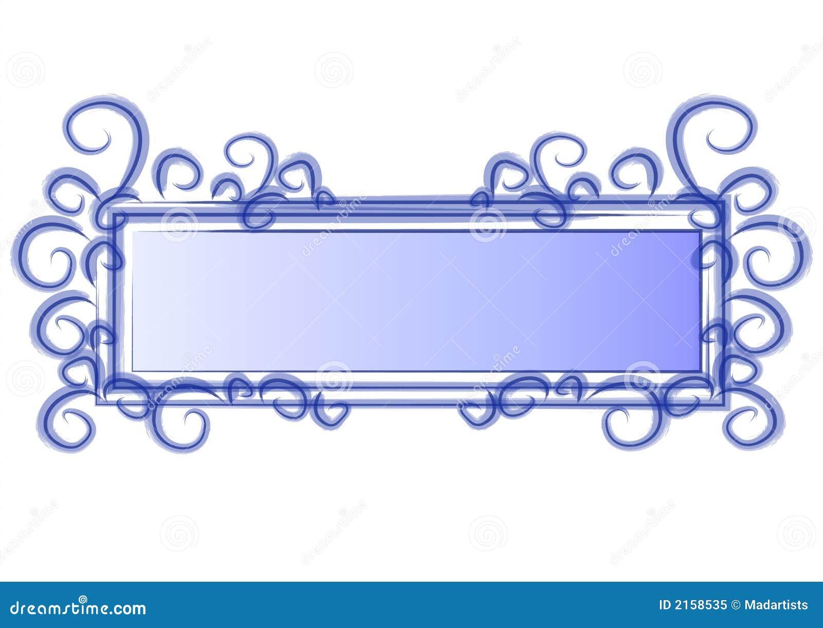 Web Page Logo Blue Swirls Royalty Free Stock Photo - Image: 2158535