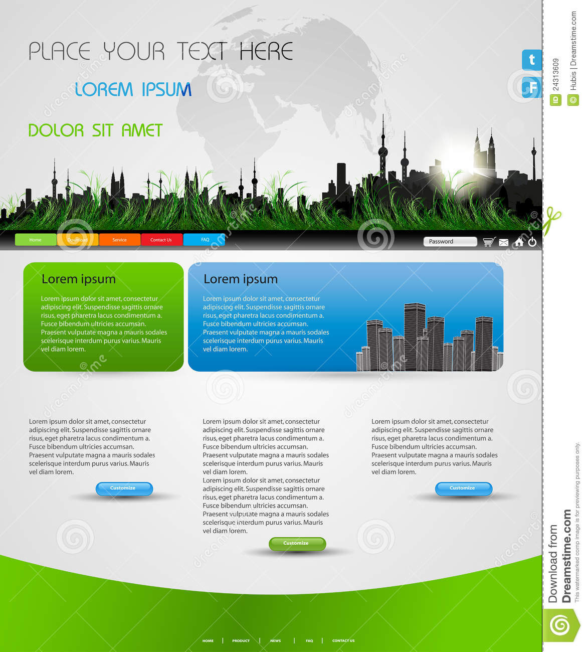 Web Page Site Map Example: Web Page Nature Layout Royalty Free Stock Images