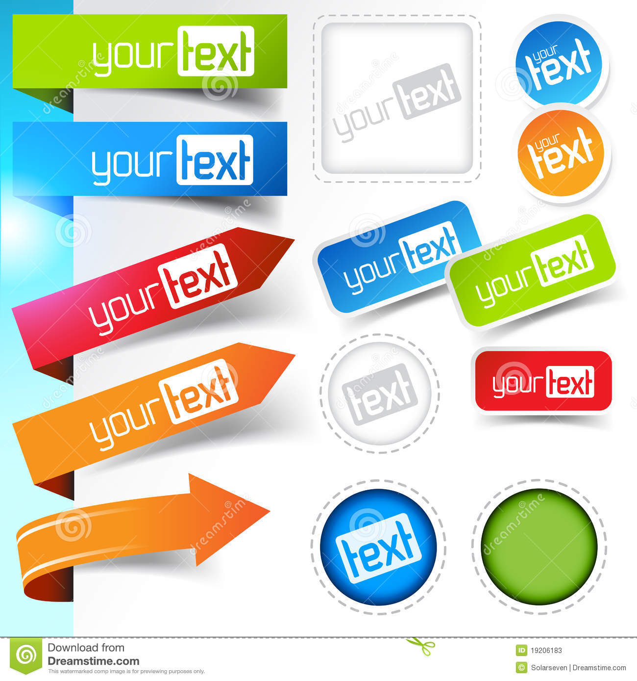 Vector Illustration Web Designs: Web Page Sticker Designs Stock Vector. Image Of Collection