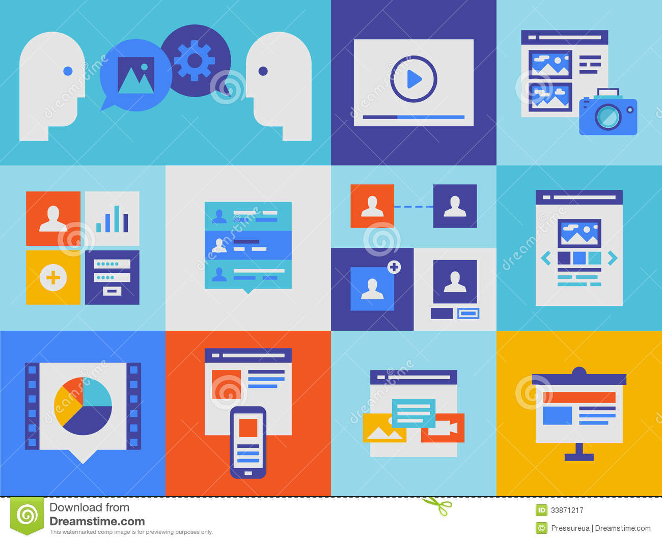 Web Presentation And Interface Icons Royalty Free Stock