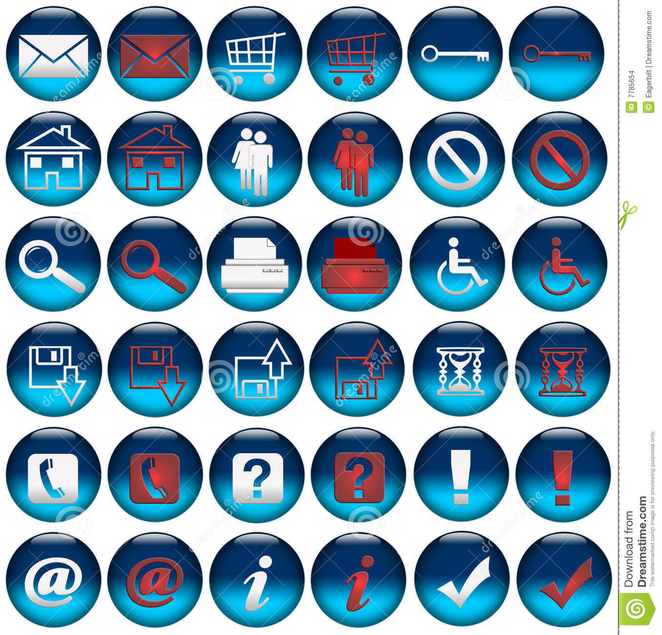 Web Rollover Icons/Buttons Stock Images - Image: 7785654
