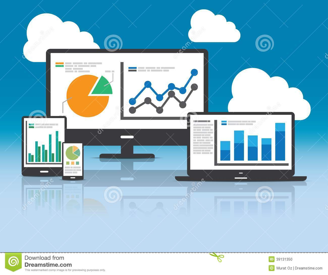 Web And SEO Analytics Concept - Illustration Stock Vector ...