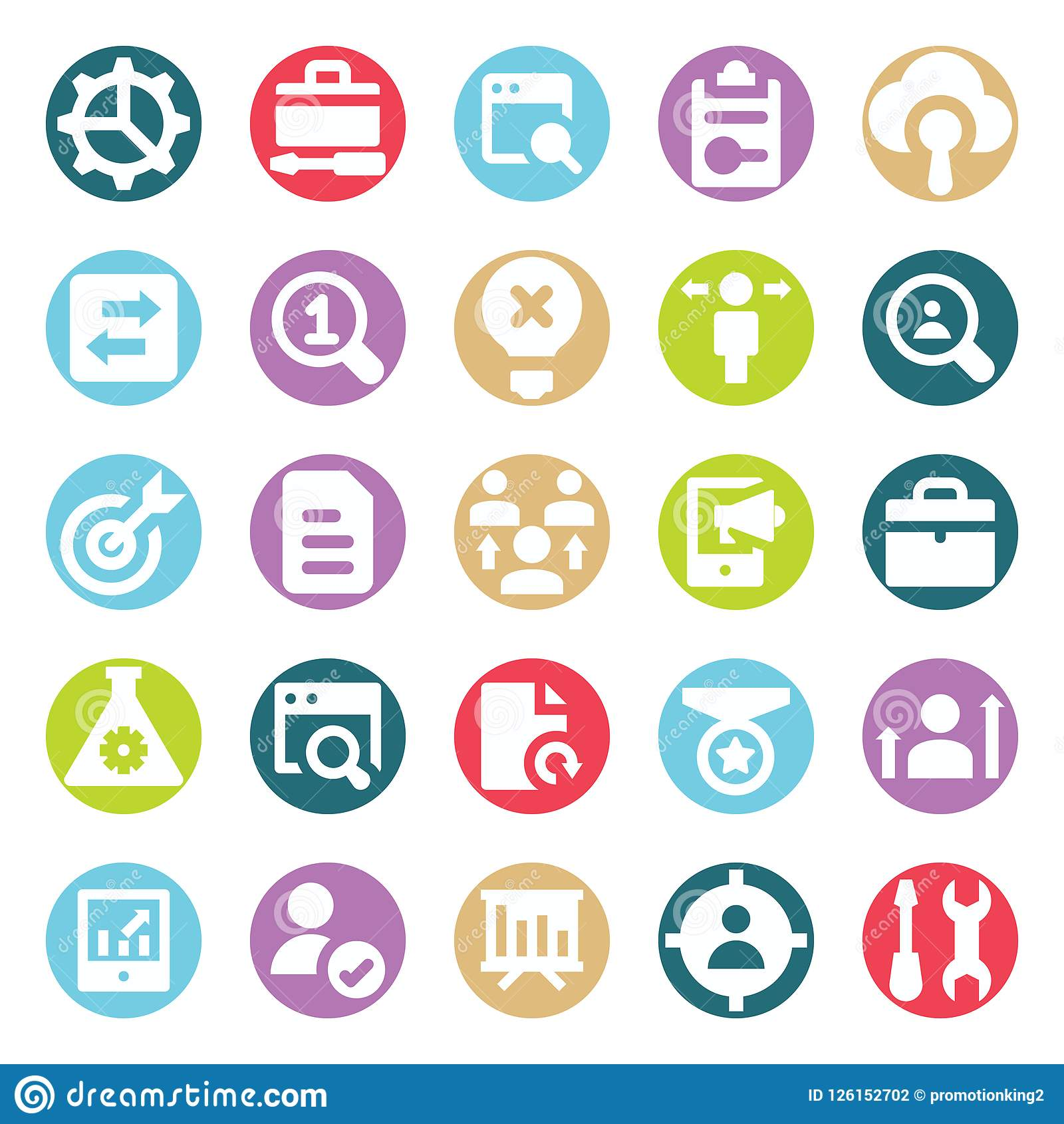 Web, SEO, Tools and Digital Marketing Two Color Glyph Vectors Isolated editable Icons Pack