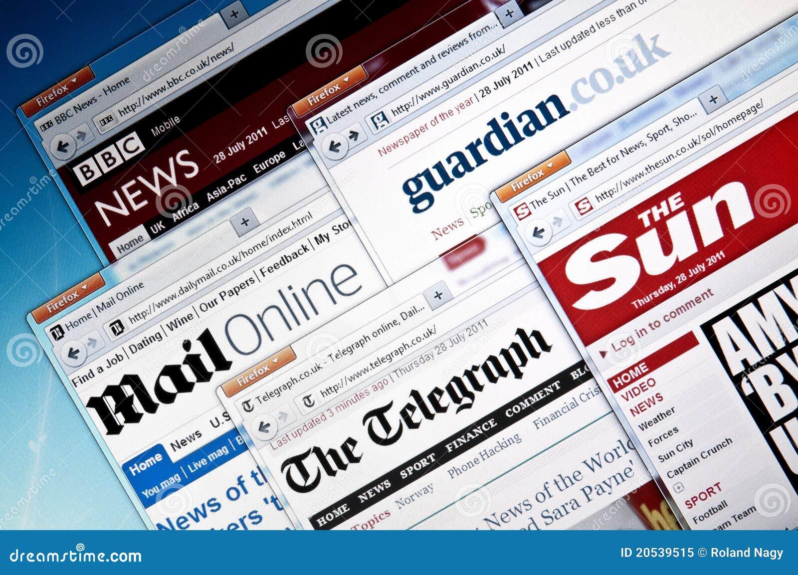 Web site BRITÁNICOS de las noticias del `s