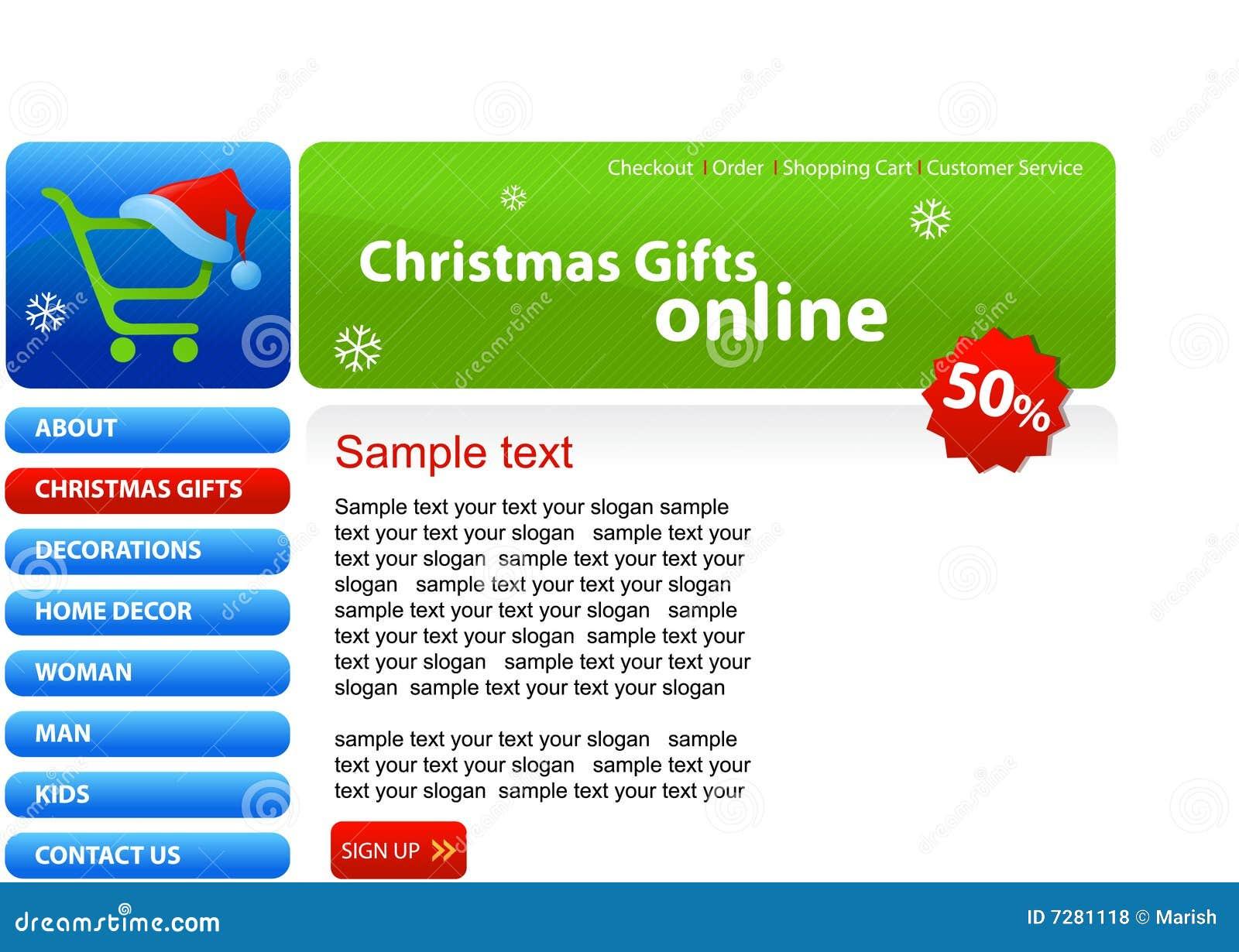 Web site - compras de la Navidad