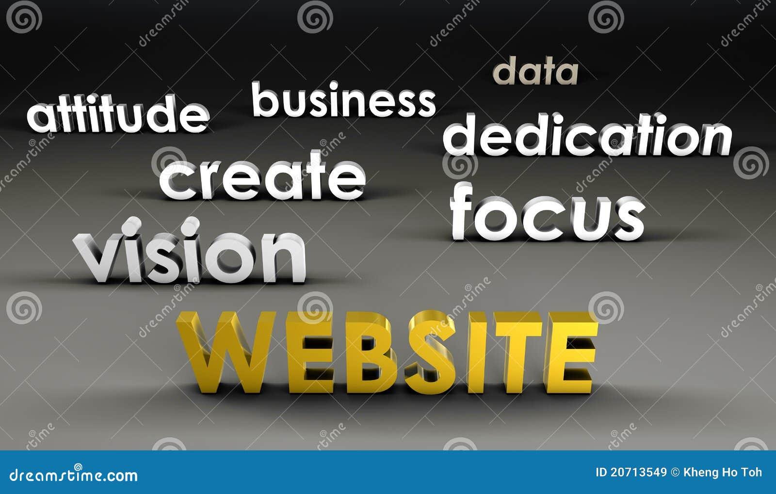 Web site an der vordersten Reihe