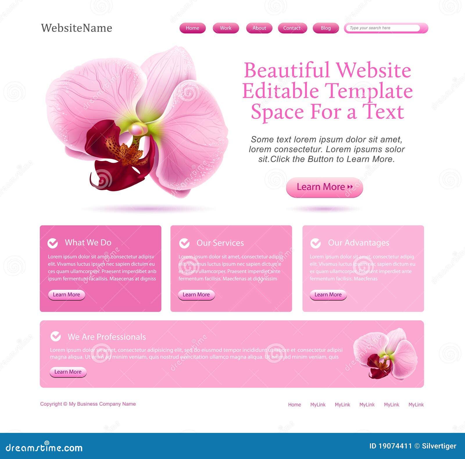 Web site für Schönheiten