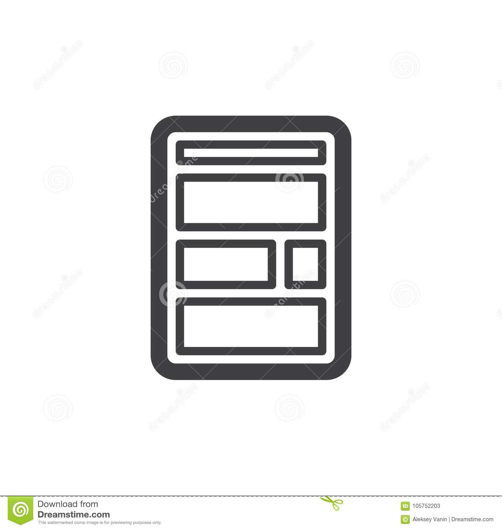 Web site layout line icon