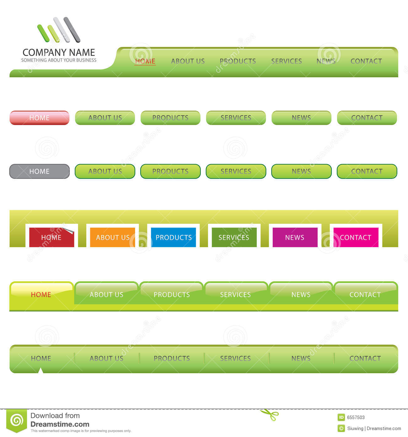 more similar stock images of web site navigation templates