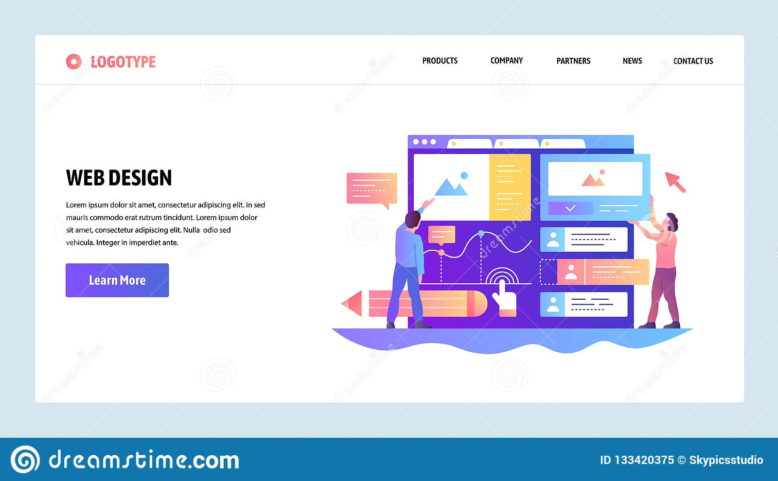 Web site onboarding screens. Team build ux ui interface. Menu vector banner template for website and mobile app